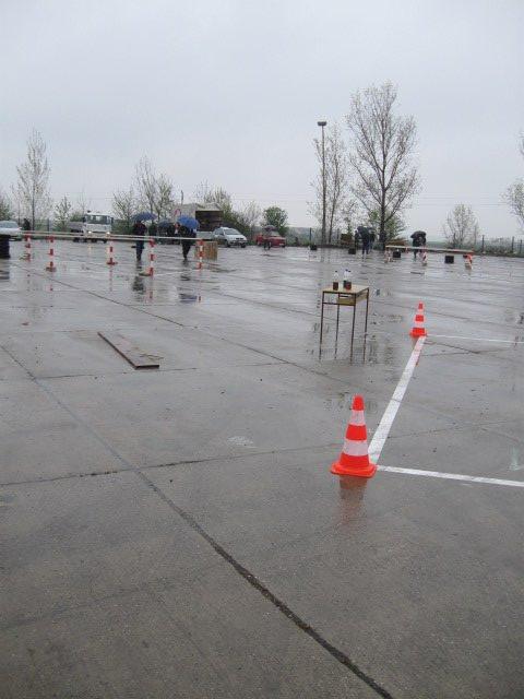 Praktičan deo takmičenja - vožnja učenika na poligonu za B i C kategoriju