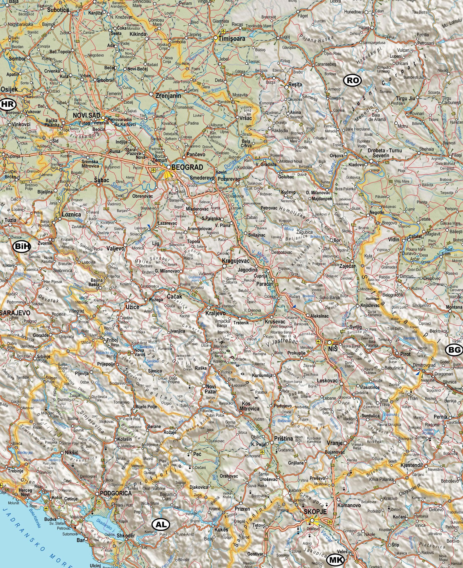 mapa srbije satelitski snimak Auto karta Srbije – Motorna vozila mapa srbije satelitski snimak