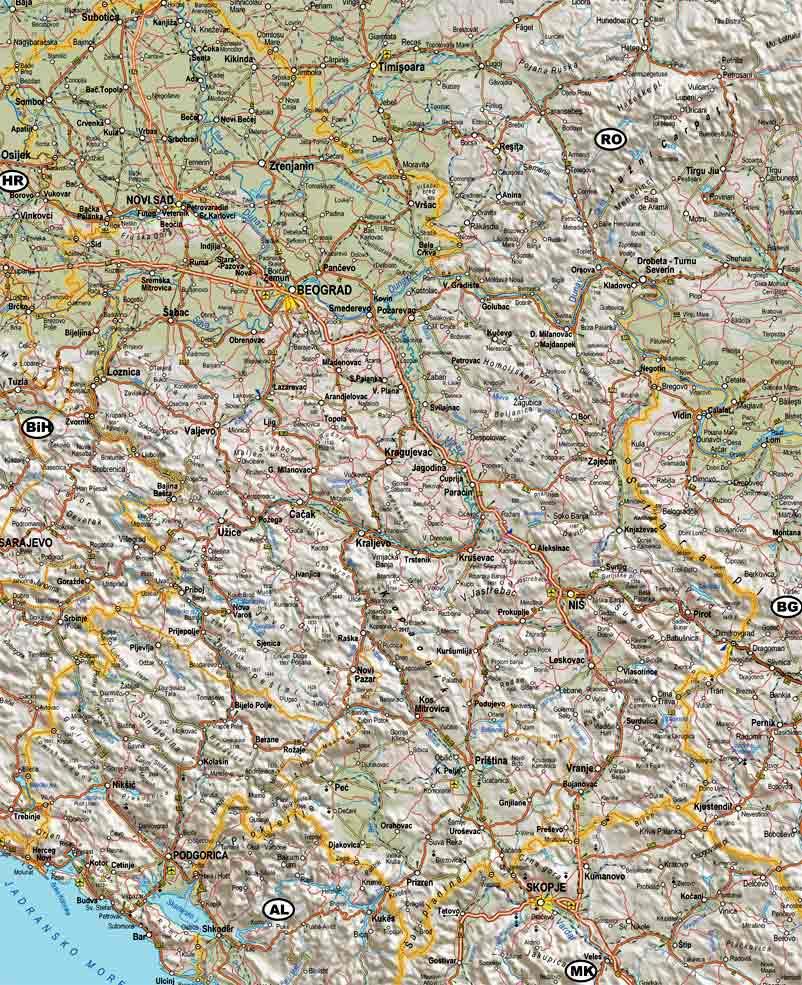 Auto mapa Srbije