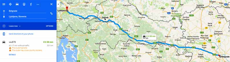 Auto Karta Srednje Europe Karta
