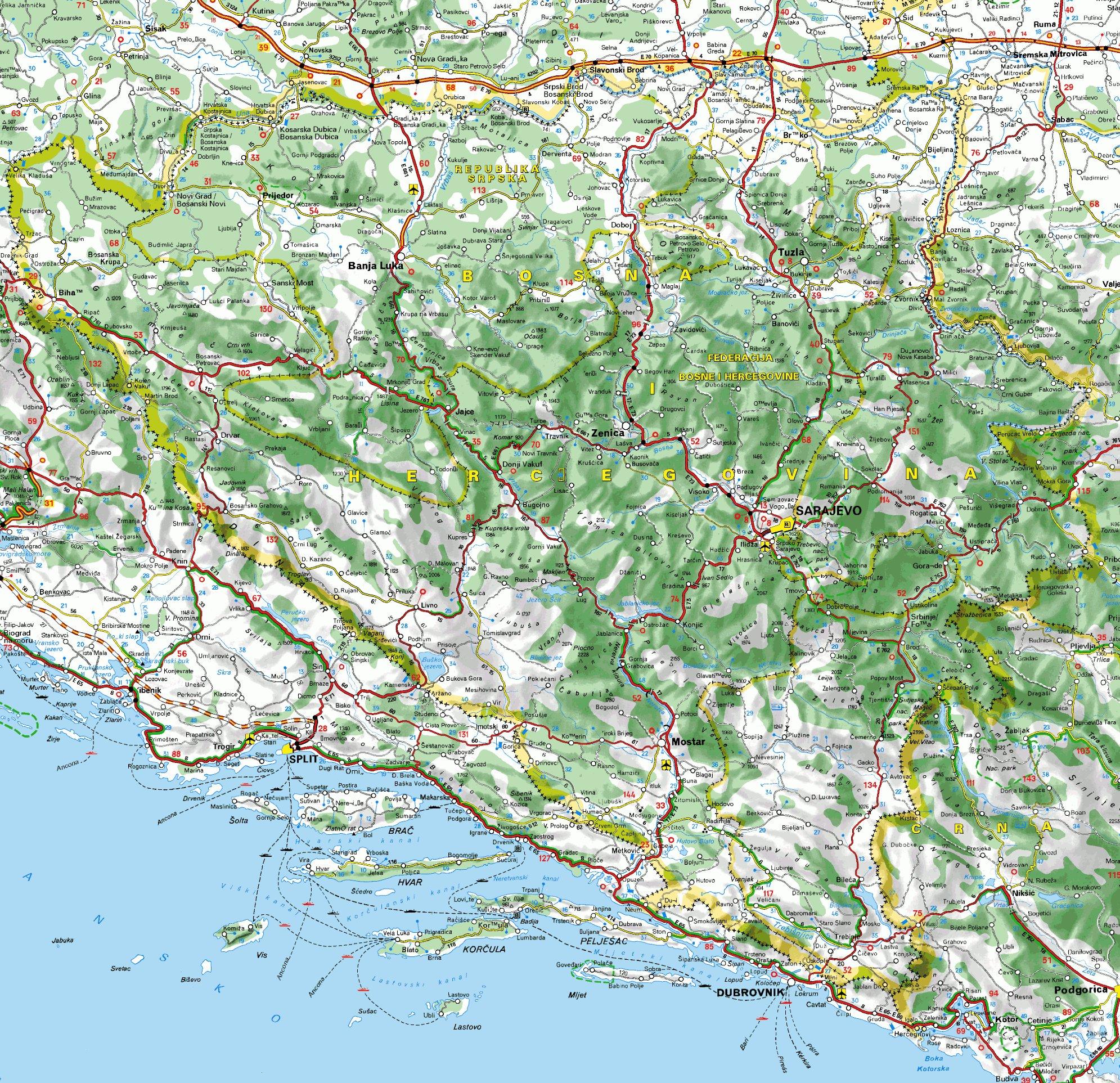 karta bosne i srbije Auto karta BIH – Motorna vozila karta bosne i srbije