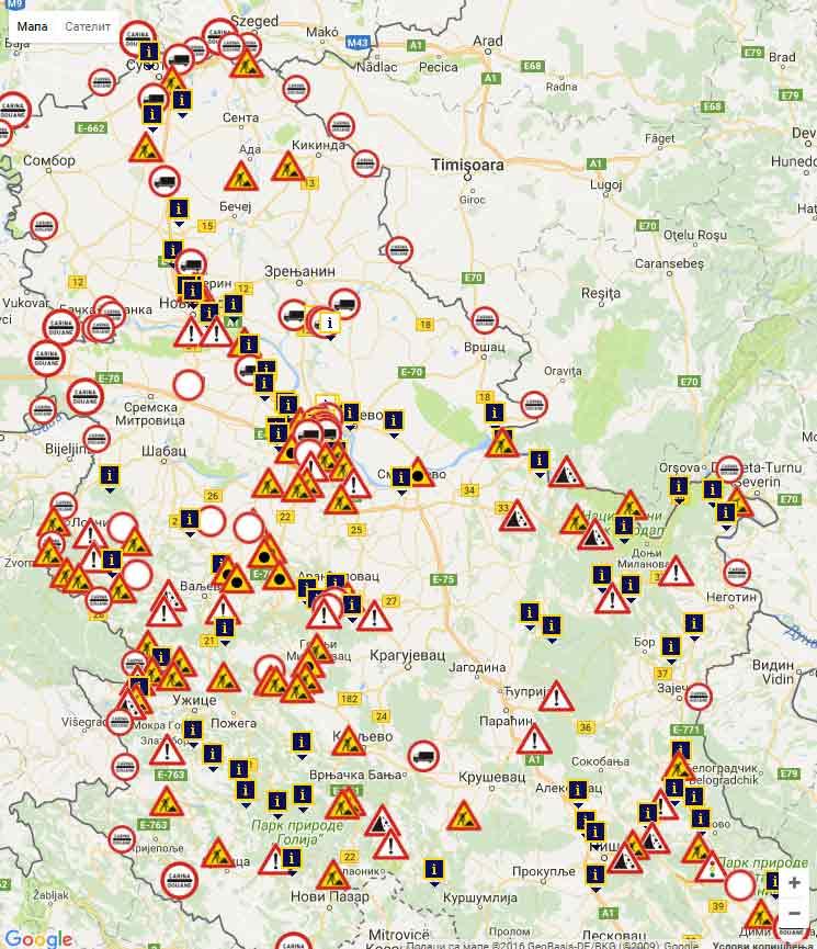 Stanje na putevima Srbija